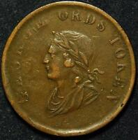 CANADA/IRELAND DUBLIN GEORGE ORD HALFPENNY TOKEN 1834   WITHERS 1830