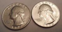 1978 P & D WASHINGTON QUARTER COIN SET 2 COINS  SDS