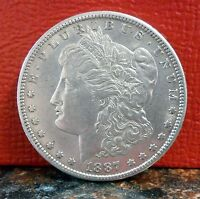 1887-S HOT 50 VAM-4 NEAR DATE, DOUBLED DATE SILVER MORGAN DOLLAR