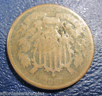 1868 TWO CENT COLLECTOR COIN 519R
