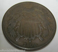 1868 CIVIL WAR ERA TWO CENT COIN 421G