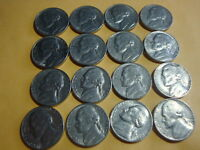 16 DIFFERENT  JEFFERSON NICKELS  1972     1979 D