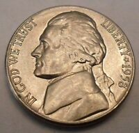 1958 D JEFFERSON NICKEL  AU   ALMOST UNCIRCULATED