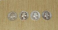 LOT OF 4 WASHINGTON QUARTERS   1943 S 1944 1945 1946