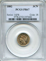 1882 THREE CENT NICKEL PCGS PR67   PROOF   3CN 21337400