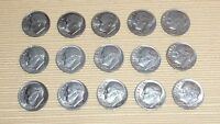 LOT OF 15 ROOSEVELT DIMES DATED 1983 P