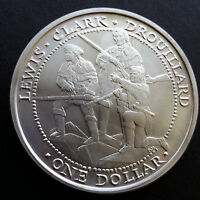 2003 THE SOVEREIGN NATION OF THE SHAWNEE TRIBE LEWIS AND CLARK SILVER MEDALLION