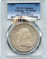 C6847  1797 10X6 STARS BUST DOLLAER PCGS VF DETAILS   7,776 MINTED