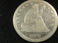 1891 P  CIRCULATED SEATED LIBERTY SILVER QUARTER