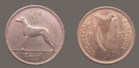 IRELAND 1935 6 PENCE  GRADE SHARP DETAIL LUSTER FIELDS CH AU KEY DATE