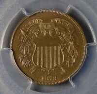 1873 2C TWO CENT  CLOSED 3  PROOF BROWN  PR66BN PCGS