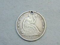1856 US SEATED LIBERTY HALF DOLLAR  HOLE BUT NICE