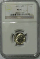1997 P 10C NGC MS 67 ROOSEVELT DIME
