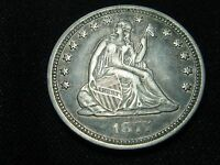 1877 HIGH GRADE SEATED  LIBERTY QUARTER