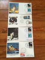 1969 APOLLO 11 SET OF 4 COVERS. JULY16 20 21 24 START  FINISH. 50TH ANNIVERSARY