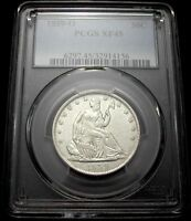 1859 O PCGS XF45 SEATED LIBERTY HALF   NEARLY WHITE / NO TONING / CLEAN