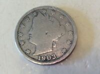 1903 US 5 CENTS