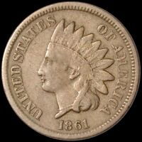1861 INDIAN HEAD CENT 1C UNITED STATES COIN