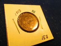 1913 90 SILVER BARBER 10C IN ALMOST UNCIRCULATED 158