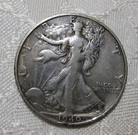 1940 S    WALKING LIBERTY HALF DOLLAR    PLEASE VIEW PICTURES FOR CONDITION