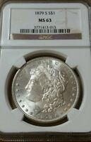 1879-S MORGAN SILVER DOLLAR NGC MINT STATE 63
