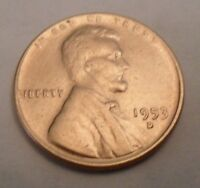 1953 D LINCOLN WHEAT CENT / PENNY COIN  SHIPS FREE