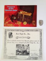 8 REALES SILVER COB COIN 1715 PLATE FLEET REAL EIGHT COMPANY BROCHURE VINTAGE
