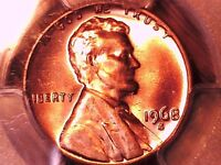 1968 S LINCOLN MEMORIAL CENT PCGS MS 66 RD 29924962