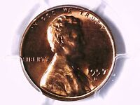 1957 D LINCOLN WHEAT CENT PCGS MS 64 RD 30566201