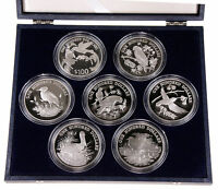 BIRDS OF THE CARIBBEAN 7 SILVER SET ANTIGUA DOMINICA SAINT VINCENT GRENADA NEVIS