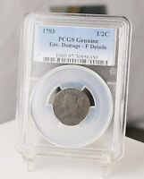 1793 HALF CENT  PCGS  ENV. DAMAGE   FINE DETAILS