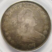 1807 DRAPED BUST HALF DOLLAR PCGS F-15  ORIGINAL COLOR