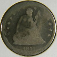 1877 SEATED LIBERTY QUARTER IN G