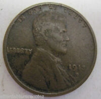 1913 S LINCOLN WHEAT CENT 323G