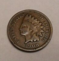 1908 S INDIAN HEAD CENT / PENNY