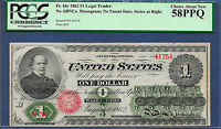 1862 $1 LEGAL TENDER  FR 16C  CHASE  PCGS CH ABOUT NEW 58 PPQ    263 KNOWN