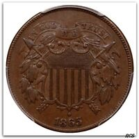 1865 TWO CENT PIECE PCGS AU-55 CERT  33546854