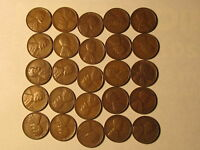 1/2 ROLL 1930 S LINCOLN WHEAT CENTS PENNY IN   FINE - EXTRA FINE 25 COINS