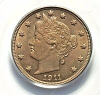 1911 PCGS MS63 LIBERTY HEAD NICKEL UNCIRCULATED   NICE AFFORDABLE TYPE COIN