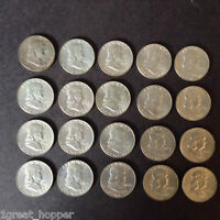ROLL OF 1959D UNCIRCULATED HALF DOLLAR COINS CLEAN BRIGHT SEE IMAGES