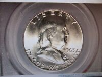 1963   PCGS MS 64 FRANKLIN HALF DOLLAR SILVER COIN RANDOMLY PULLED FROM BOX