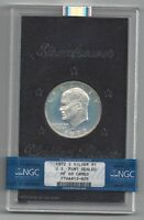 1972 S   SILVER   EISENHOWER   NGC   PF  68 CAMEO