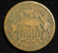 1867 TWO CENT PIECE KEY DATE BETTER GRADE COIN 2C $