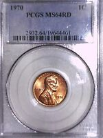 1970 P LINCOLN MEMORIAL CENT PCGS MS 64 RD 19644461