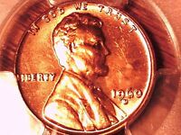 1960 D LINCOLN MEMORIAL CENT PCGS MS 64 RD SMALL DATE 29924831