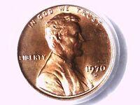 1970 D LINCOLN MEMORIAL CENT PCGS MS 65 RD 12429172