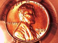 1960 D LINCOLN MEMORIAL CENT PCGS MS 64 RD SMALL DATE 29924830