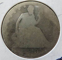 1870 SEATED LIBERTY HALF DOLLAR 90 SILVER