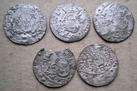 POLAND LOT 5 PSC SILVER SHILLINGS 1616 YEAR