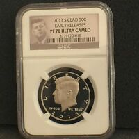 2013 S CLAD KENNEDY PROOF NGC PF70 ULTRA CAMEO UC EARLY RELEASES ER 50C